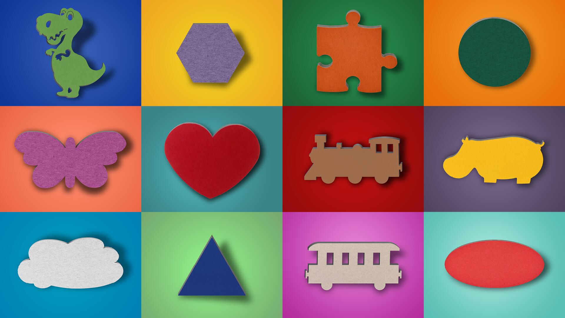 aixFOAM Motiv-Schallabsorber - Schallabsorber in farbigen Motiven