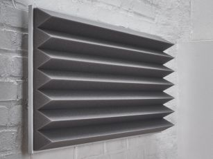 Schallabsorber mit Dreieckprofil