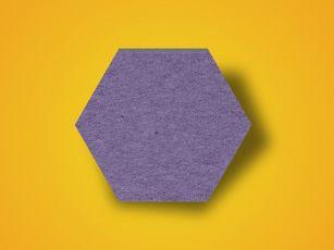 Schallabsorber Filzoberfläche Hexagon