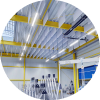 Sound insulation for industrial buildings, factories and workshops