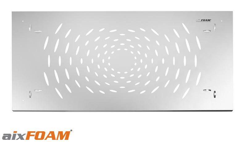 Akustisch aktive Perforation des Akustikrahmens