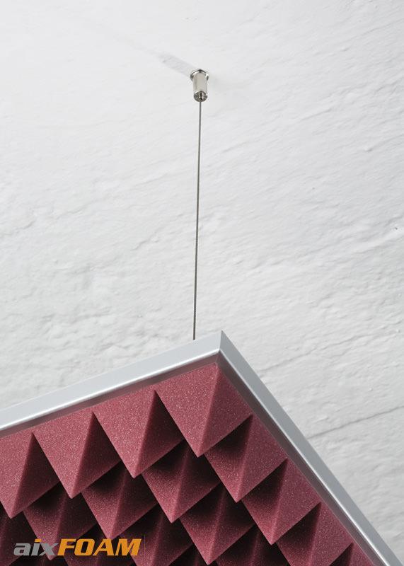 Flexible Montage der Akustikrahmen mit dem Seilsystem Style