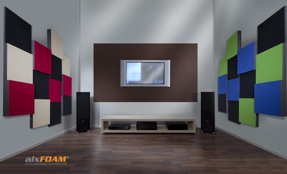 Perfekte Akustik im Heimkino | aixFOAM® Schallabsorber