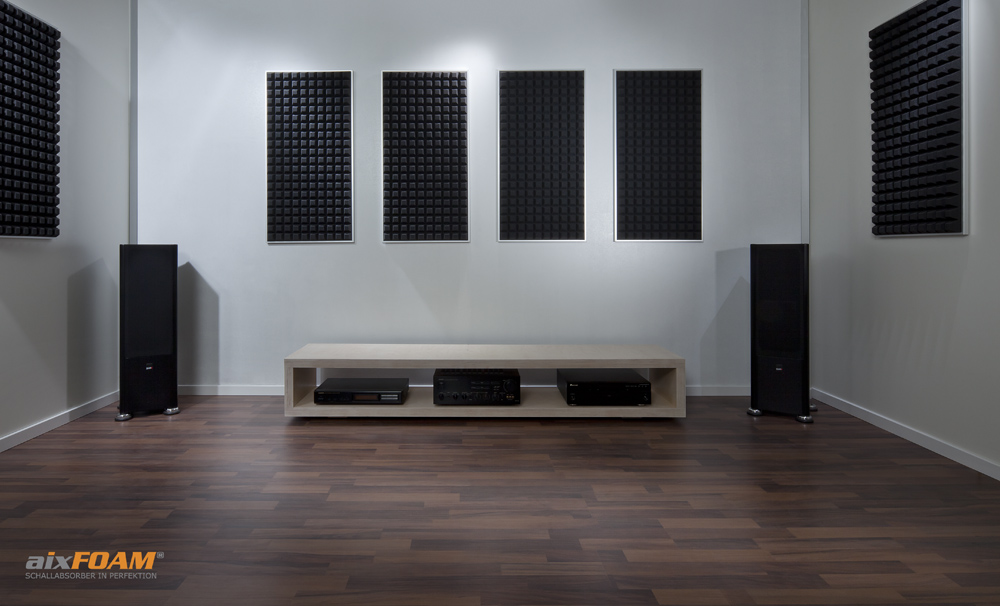 perfekte akustik im heimkino aixfoam schallabsorber. Black Bedroom Furniture Sets. Home Design Ideas