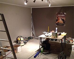 Le home-cinéma aixFOAM sera créé dans cet espace inutilisé.
