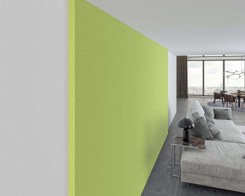 Akustische Wandverspannungen sind als Gestaltungselement in der Innenarchitektur ebenso beliebt wie als effektiver Schallschutz.