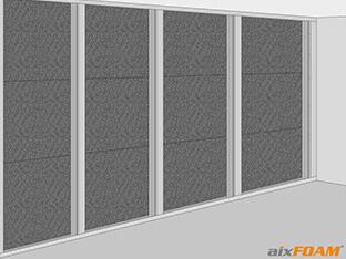 Wandprofile in den Rahmen einstellen