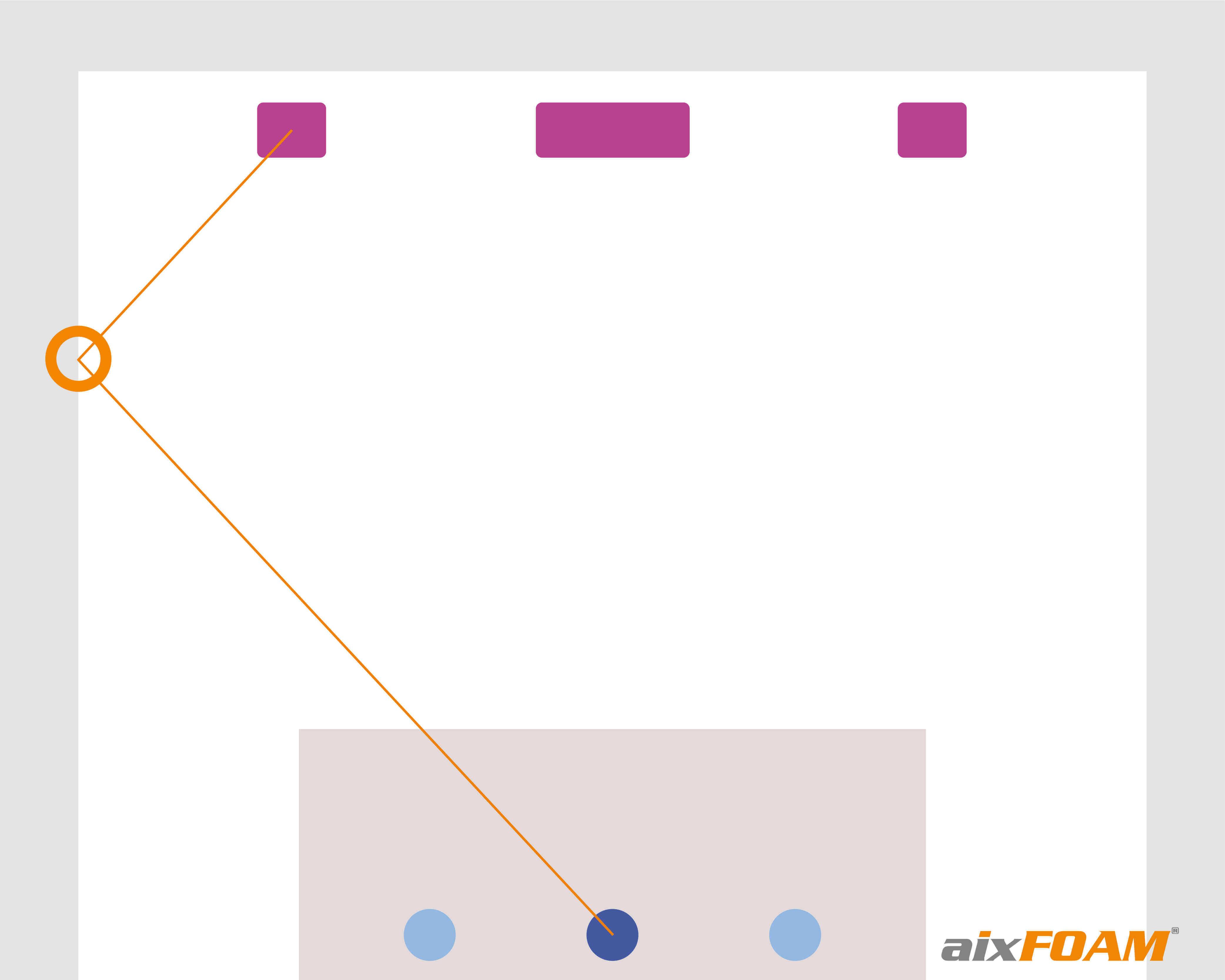 Vaihe 3: Seinän ja apuviivan leikkauskohdasta saadaan heijastumiskohta