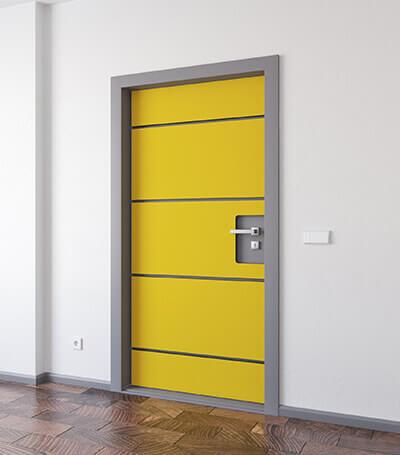 Selbstklebendes Tür-Dämmset mit Filzoberfläche in 20 attraktiven Farben