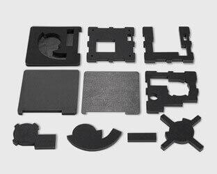 Maßgefertigte aixFOAM Akustiksätze zum Verbauen in Geräten, Fahrzeugen und Maschinen