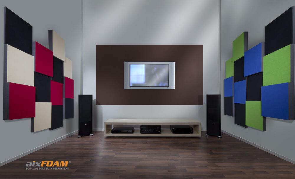 aixFOAM Design Schallabsorber mit Akustikfilzkaschierung SH006