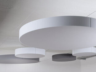 Schallabsorber SH010CIRCLE in kreisrunder Form