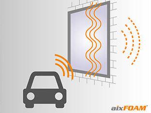 Ohne Schallschutz/ Schallisolierung transportieren Fenster und Türen Lärm ins Innere des Gebäudes.