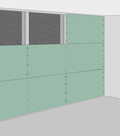 aixFOAM Schalldämmung einer Wand mit Vorsatzschale