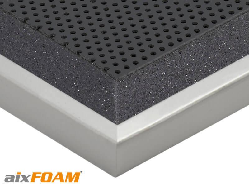 aixFOAM Schallabsorber SH014 mit Oberflächenkaschierung